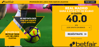 betfair supercuota Real Madrid gana a Athletic 15 septiembre