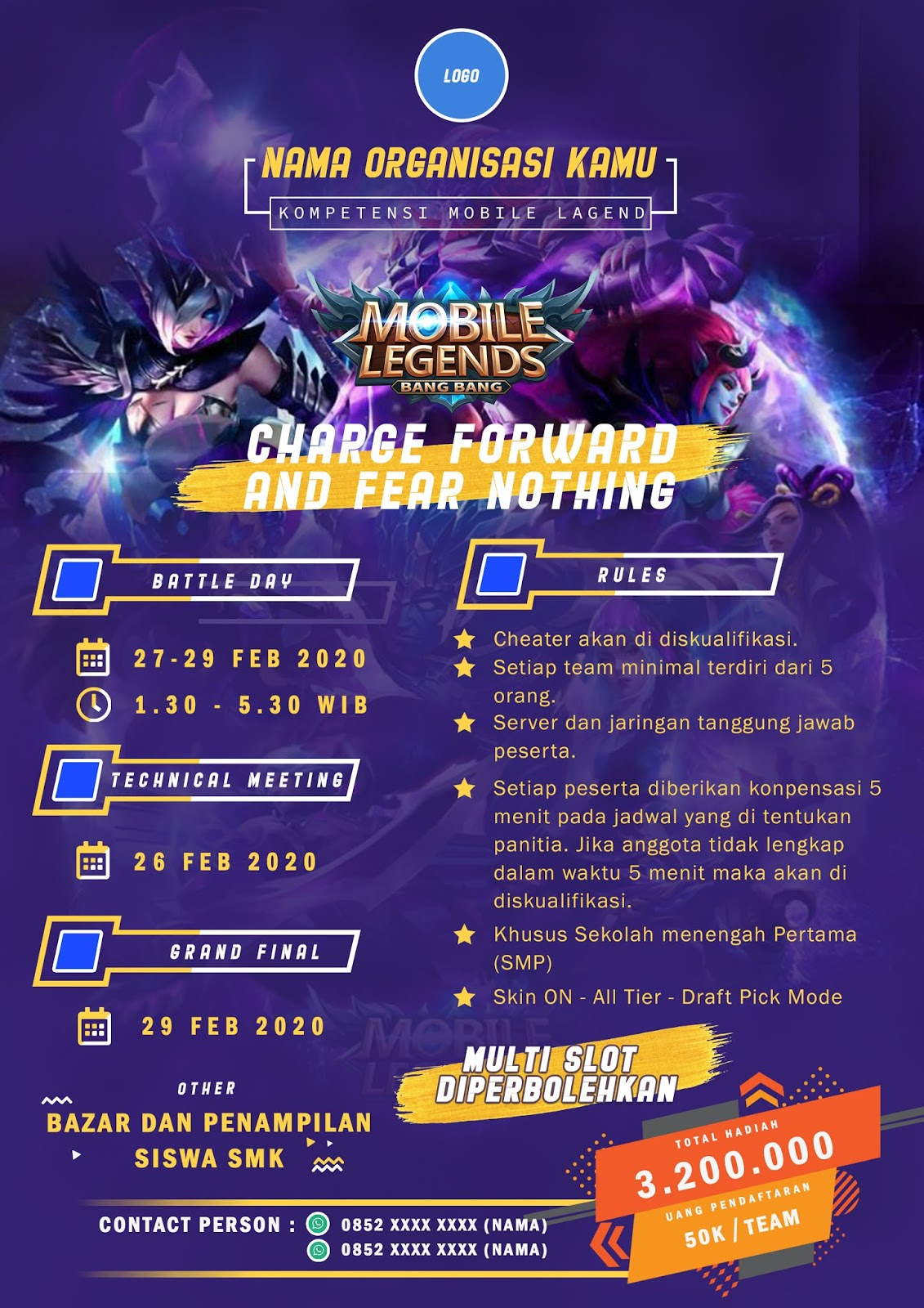 Download Template Brosur Turnamen Mobile Legend Gratis Psd Broagus