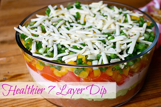 http://coachpaulachavez.blogspot.com/2015/06/7-layer-dip.html   mexican dip, healthy dip, 4th of july recipes, clean eating