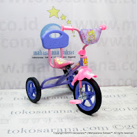 Sepeda Roda Tiga BMX PMB 919S-P Safari Sandaran Violet