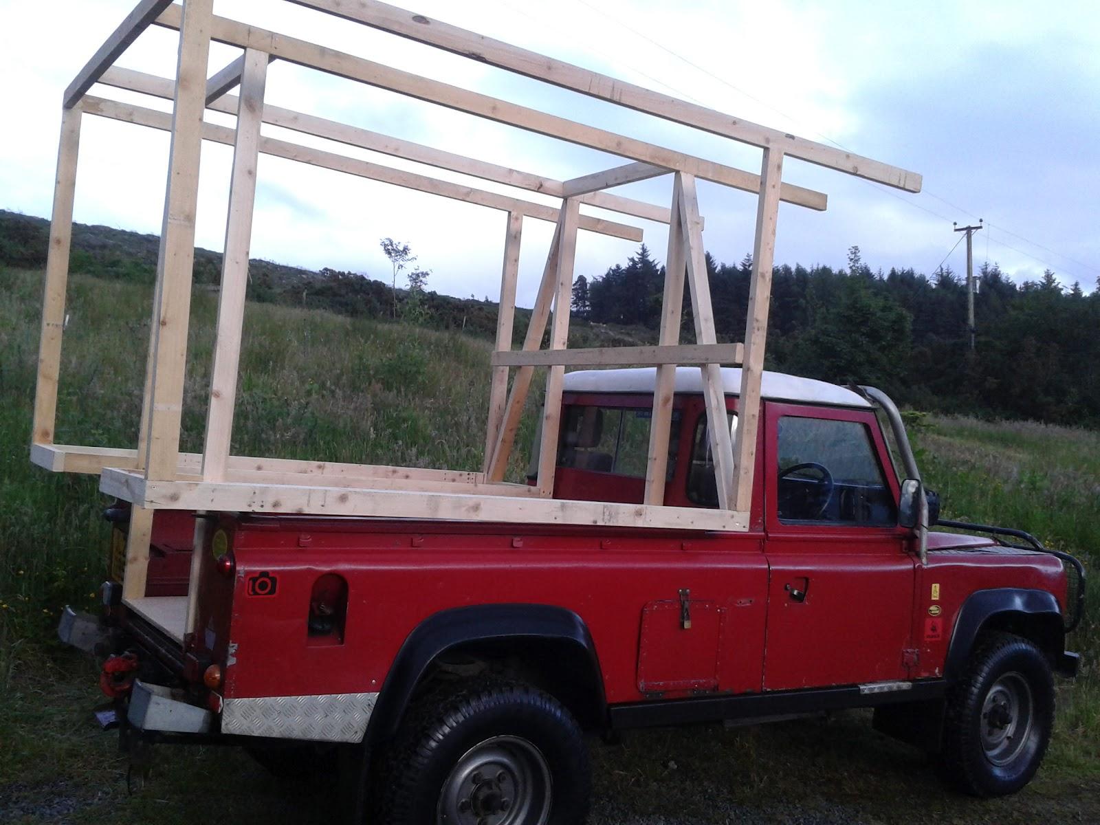 Demountable Camper For Land Rover 110 DIY