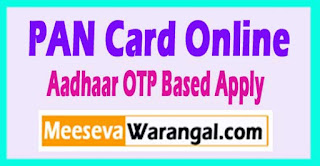 New PANCARD Apply Aadhaar Card Mobile OTP Based