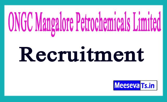 ONGC Mangalore Petrochemicals Limited OMPL Recruitment Notification