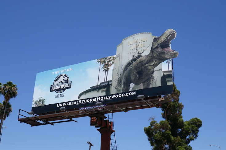 Jurassic World Ride Universal Studios billboard