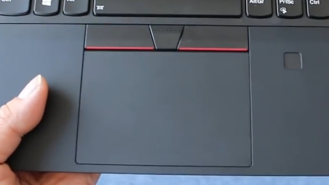 Smooth, responsive, and accurate precision touchpad of Lenovo ThinkPad T490 laptop.