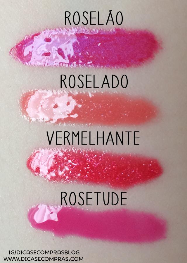 """gloss Roselão, Roselado, Vermelhante e Rosetude da """"quem disse, berenice?"""""""