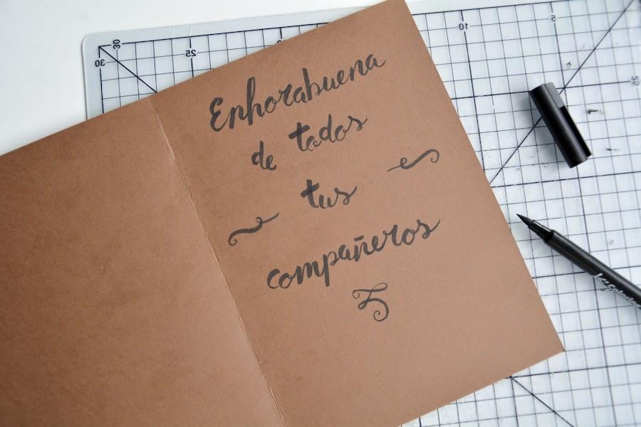 Tarjeta scrapbook dedicatoria