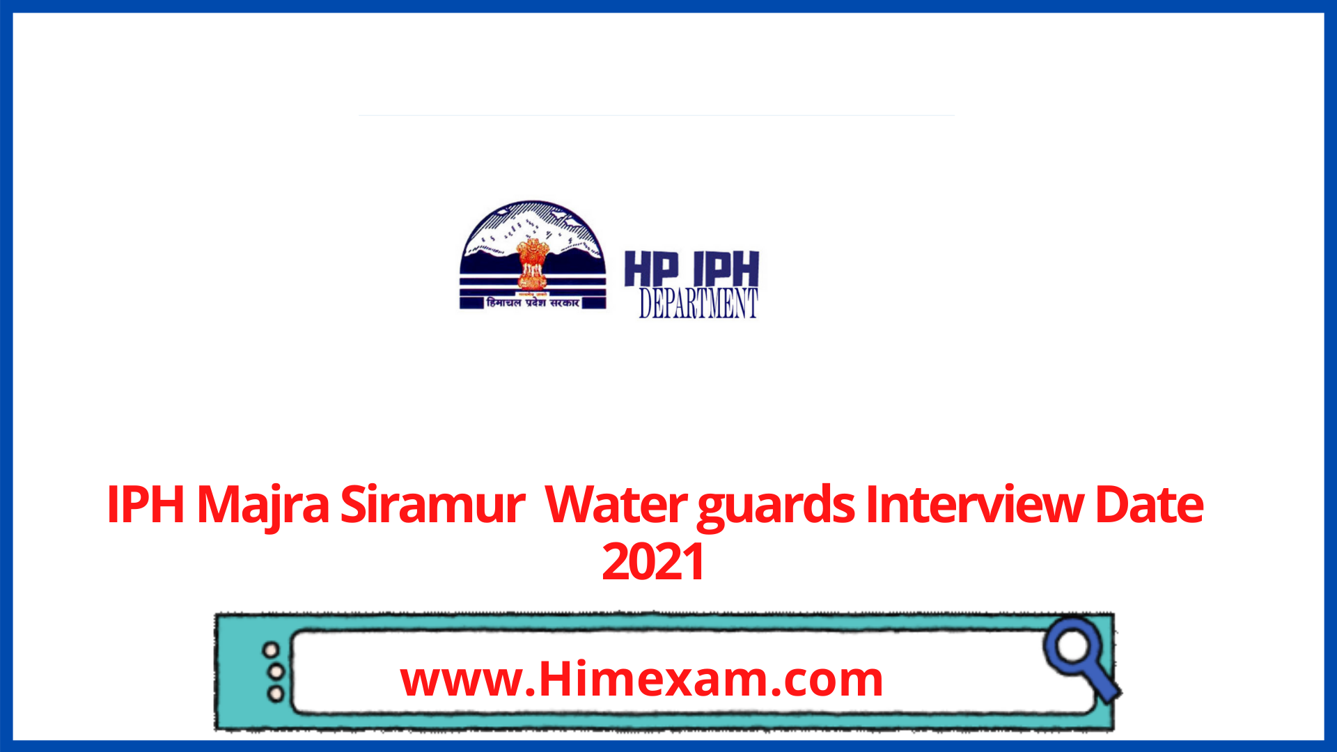 IPH Majra Siramur  Water guards Interview Date 2021