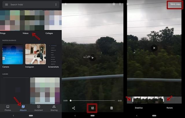 Cara Edit Video Menggunakan Aplikasi Google Photos App. 2