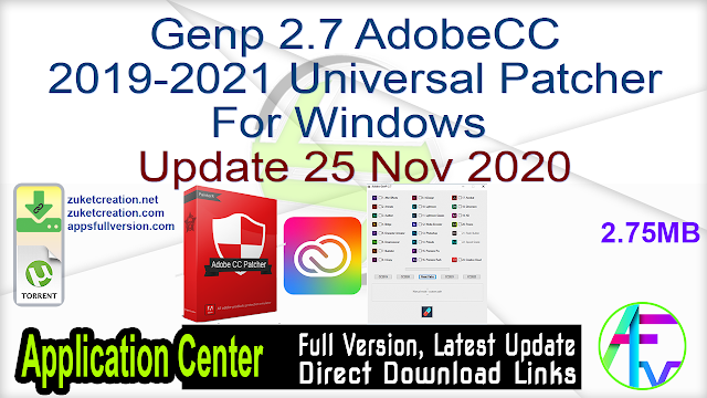 Genp 2.7 AdobeCC 2019-2021 Universal Patcher For Windows