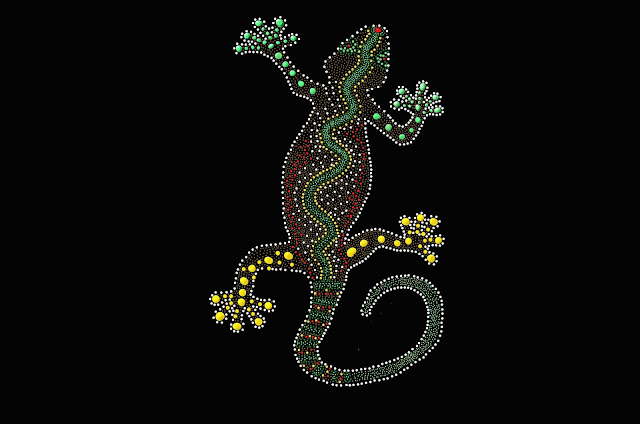 lizard dot art image from diapicard from Pixabay