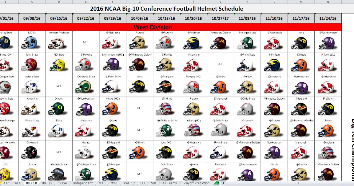 college football spreadsheet when is college football season