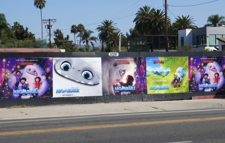 Abominable movie street posters