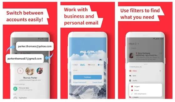 myMail - Aplikasi untuk membuka dan mengirim email lewat hp Android