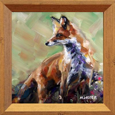 belvedere-fox-oil-painting-merrill-weber