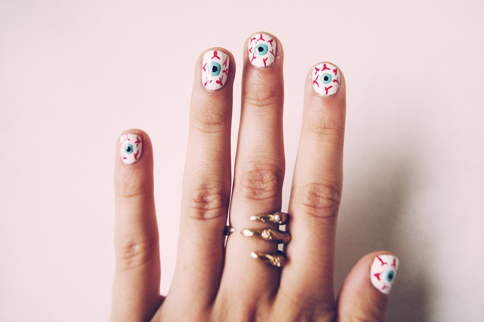 Friday Fingers // D.I.Y eyeball nails | Shakeshakee