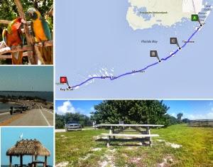 Route Florida Keys - Key Largo, Theater of the Sea, Key West