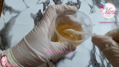 إصفرار ريزن كيمابوكسي 150 ثري دي داخل كوب بلاستيكي