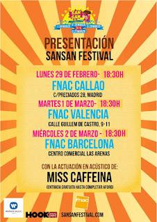 Sansan, Festival, Gandía, 2016, música, concierto, miss caffeina, FNAC
