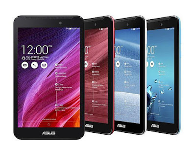 Asus Fonepad 7 (2014) Specifications - LAUNCH Announced 2014, May Also Known As Asus Fonepad 7 FE170CG  Tablet with support for GSM voice communication, SMS, and MMS DISPLAY Type Capacitive touchscreen, 16M colors Size 7.0 inches (~65.3% screen-to-body ratio) Resolution 600 x 1024 pixels (~170 ppi pixel density) Multitouch Yes BODY Dimensions 192 x 110 x 10.7 mm (7.56 x 4.33 x 0.42 in) Weight 290 g (10.23 oz) SIM Single SIM (Micro-SIM) or Dual SIM (Micro-SIM, dual stand-by) PLATFORM OS Android OS, v4.3 (Jelly Bean) CPU Dual-core 1.2 GHz Chipset Intel Atom Z2520 GPU PowerVR SGX544MP2 MEMORY Card slot microSD, up to 64 GB (dedicated slot) Internal 4/8 GB, 1 GB RAM CAMERA Primary 2 MP, autofocus Secondary VGA Features Geo-tagging Video 720p NETWORK Technology GSM / HSPA 2G bands GSM 850 / 900 / 1800 / 1900 - SIM 1 & SIM 2 (dual-SIM model only) 3G bands HSDPA 850 / 900 / 1900 / 2100 Speed HSPA 42.2/5.76 Mbps GPRS Yes EDGE Yes COMMS WLAN Wi-Fi 802.11 b/g/n, hotspot GPS Yes, with A-GPS, GLONASS USB microUSB v2.0 Radio No Bluetooth v4.0 FEATURES Sensors Accelerometer, proximity Messaging SMS(threaded view), MMS, Email, Push Mail, IM Browser HTML Java No SOUND Alert types Vibration; MP3, WAV ringtones Loudspeaker Yes 3.5mm jack Yes BATTERY  Non-removable Li-Po battery (15 Wh) Stand-by Up to 619 h (3G) Talk time Up to 10 h (multimedia) (2G) / Up to 30 h (3G) Music play  MISC Colors Black, White, Red, Blue (Dual SIM)/ White (Single SIM)  - MP3/WAV/AAC player - MP4/H.264 player - Photo viewer/editor - Voice memo/dial