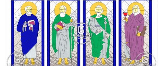 kaca patri gereja katolik 1
