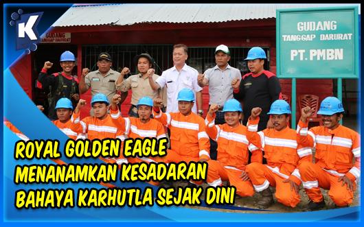 Royal Golden Eagle Menanamkan Kesadaran Bahaya Karhutla Sejak Dini