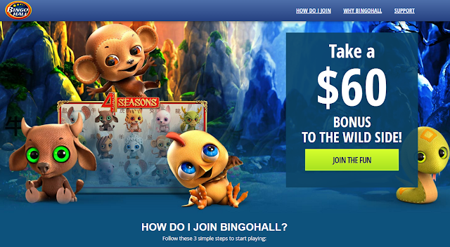 Exclusive $60 Free + 2016% Welcome Match Offer | Bingo Hall