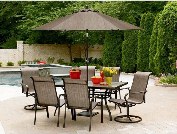 inexpensive outdoor patio furniture sets with umbrella