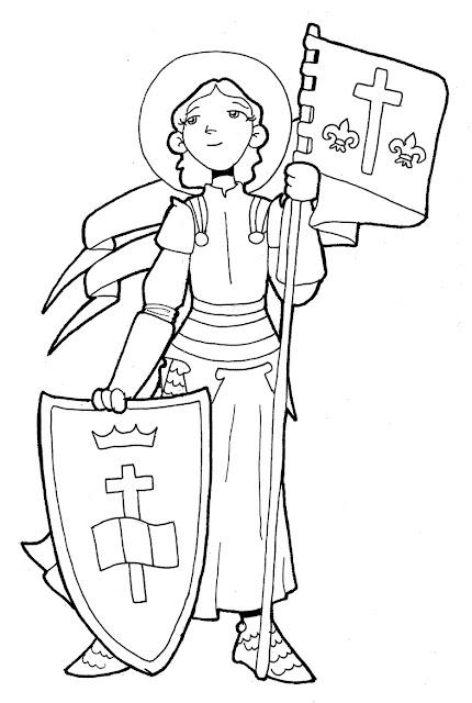 Resultado de imagen de santa juana de arco para niños