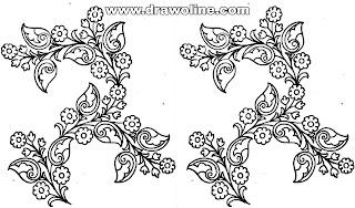Flowers design drawing, flower design drawing on paper, flower design drawing border easy, flower design drawing border