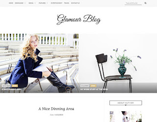 Glamour Personal Blogger Template