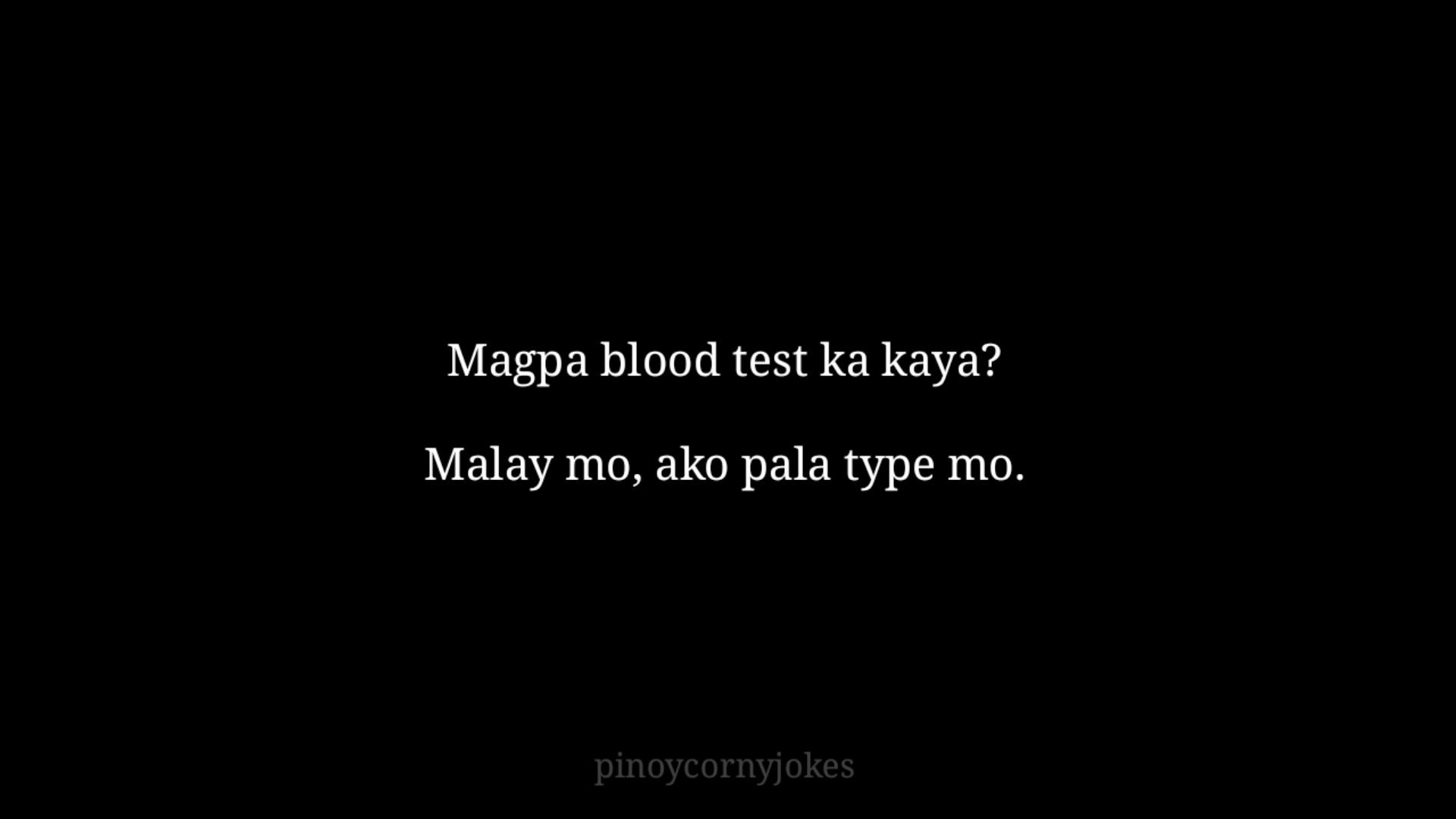 blood test tagalog pick up lines