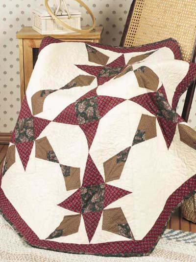 Autumn Stars Lap Quilt designed by Holly Daniels of FreePatterns