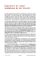 Comprendre la valeur économique de son travail (révision 1)