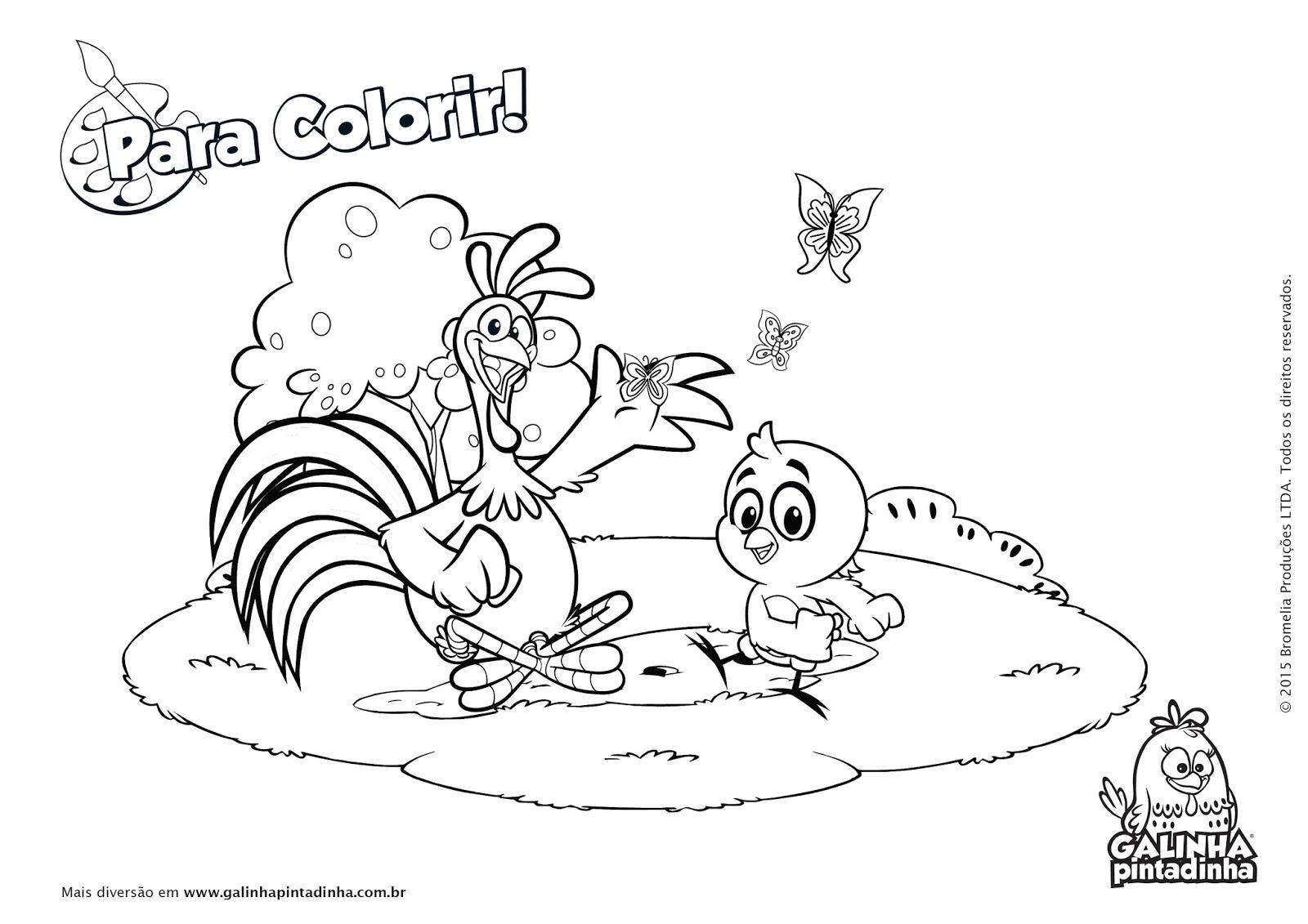 Muitos Desenhos Da Galinha Pintadinha Para Colorir, Pintar