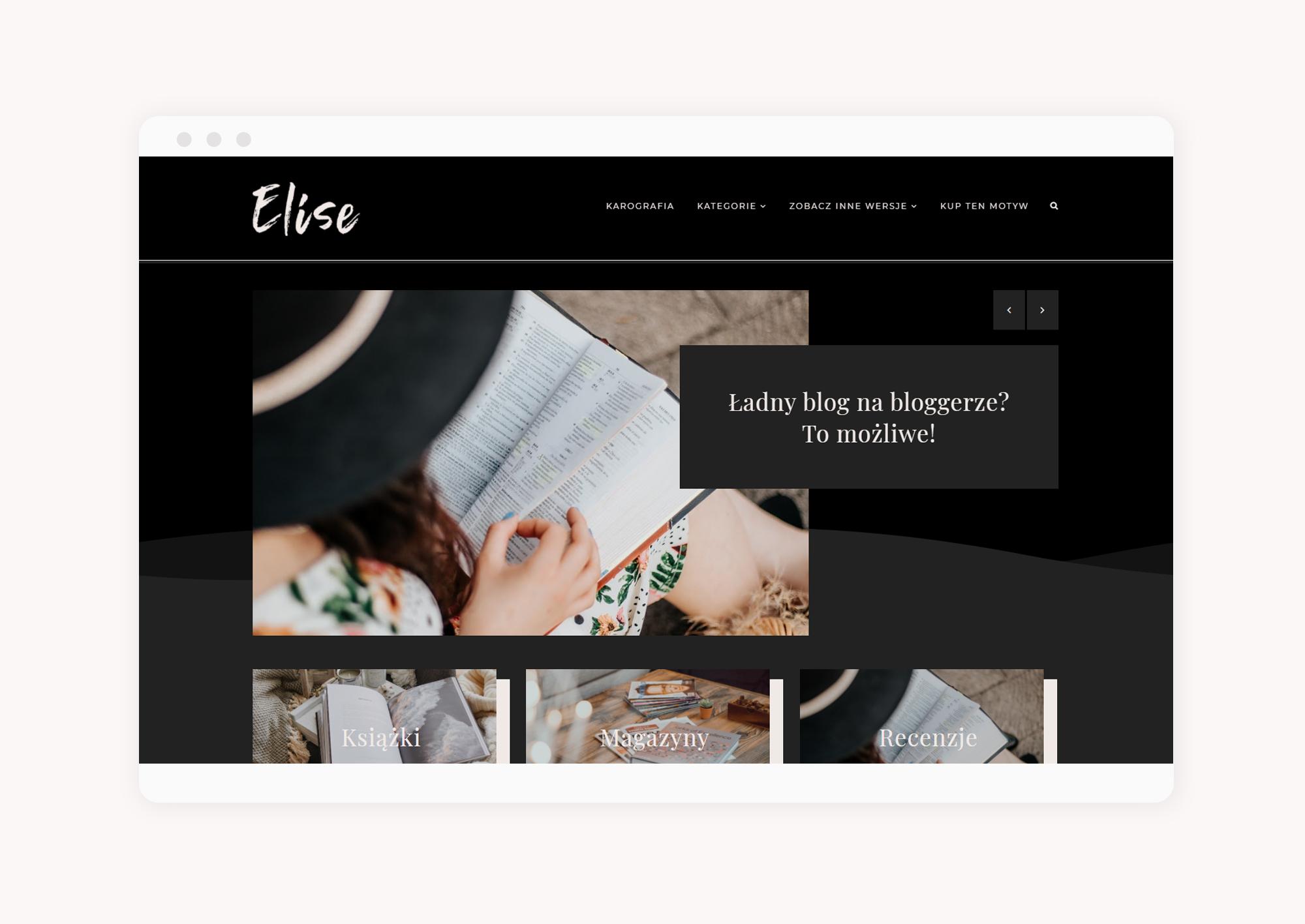 multimotyw na bloggera Elise