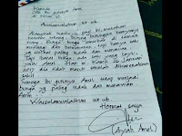 Romantis, Surat Izin Ayah Amel Untuk Ibu Guru Ini Bikin Heboh Netizen