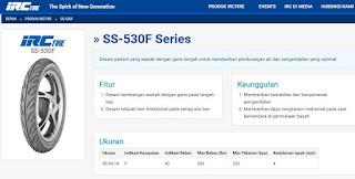 ban depan - IRC SS-530F Series 80/90-14