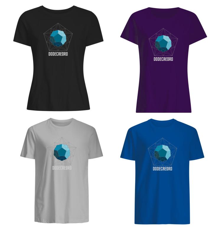 Camisetas de Matemática Dodecaedro