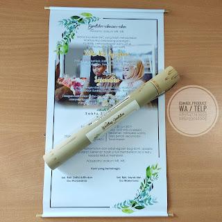 undangan bambu kentongan warna