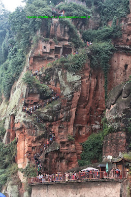 Stairs, Giant Buddha, Leshan, Sichuan, China