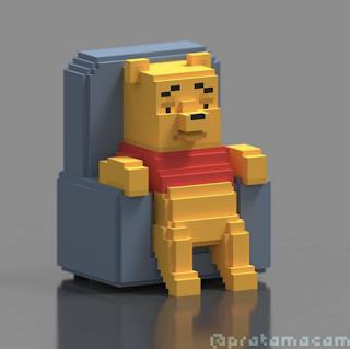 Winnie the Pooh Voxel Meme
