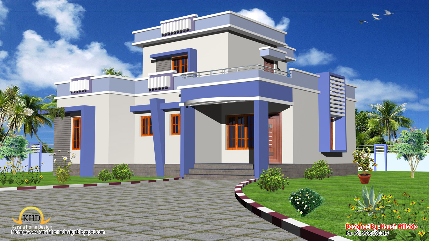 Duplex house elevation 1986 sq ft kerala home design for Duplex house plans for 2000 sq ft