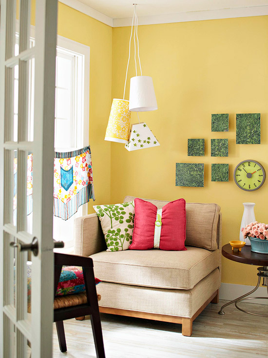 Modern Furniture 2013 Spring Living Room Decorating Ideas from BHG