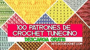 100 Patrones de Crochet Tunecino ✅ Revista para descargar