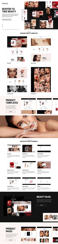 Beauty and Makeup Shop WordPress Theme