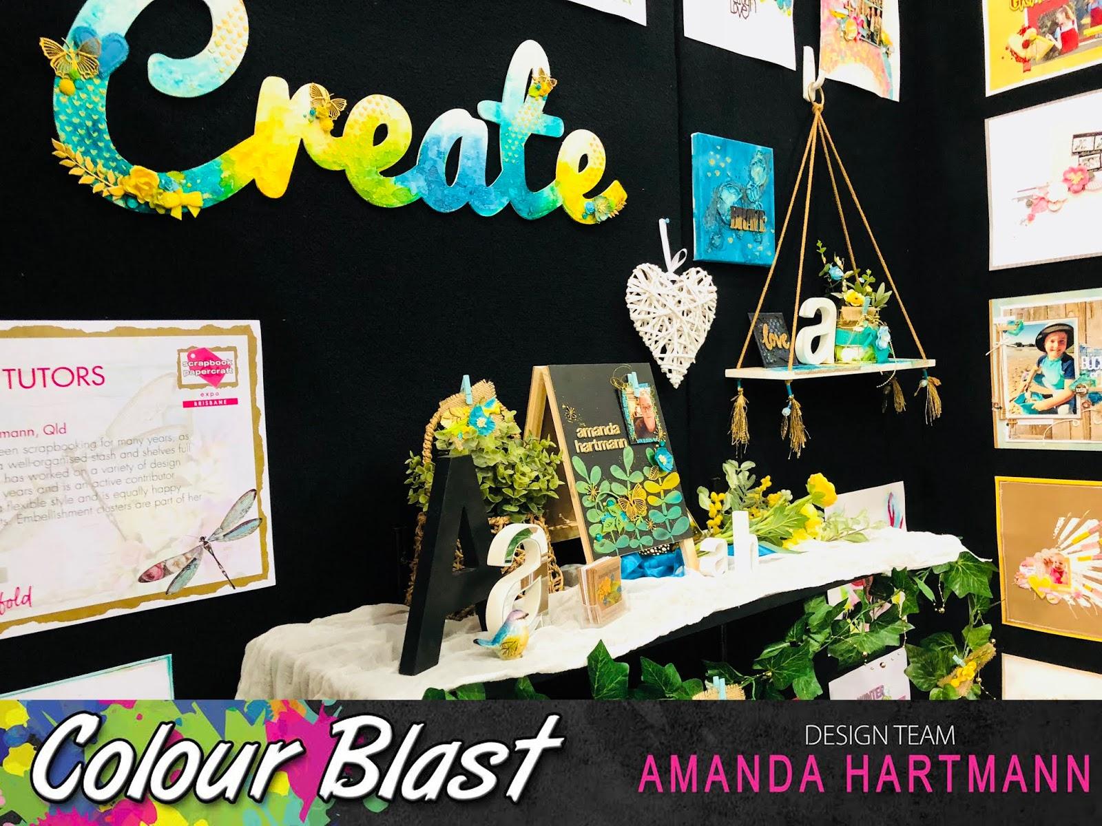 Colour Blast Shelf And Chalkboard By Amanda H