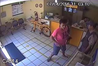 Divulgada as primeiras imagens do assalto a agência dos Correios de Nova Palmeira; veja