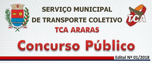 TCA Araras abre inscrição para concurso público