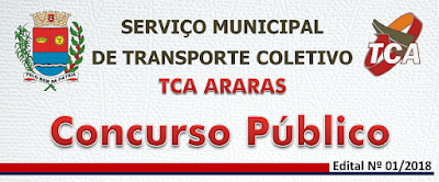 inscrição concurso público TCA de Araras SP